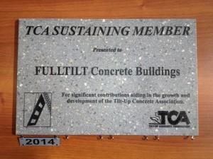 TCA Sustaining Member Plaque