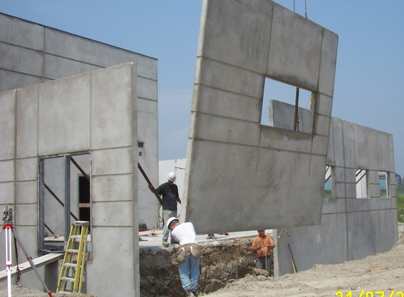 Multi plastics tilt wall construction
